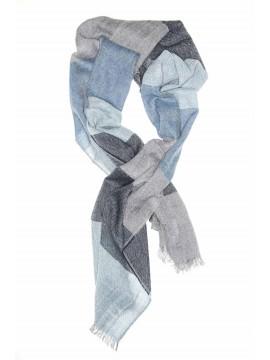 Navy/Grey Virgin Wool Edward Armah Scarf