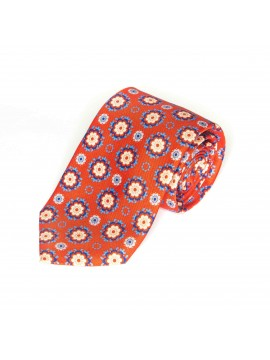 Red/Gold Floral Medallions Tie