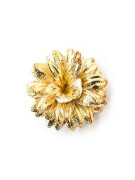 Gold Foil Corduroy Boutonniere