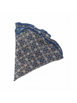 Beige/Denim Foral/Dots Wool Pocket Circle