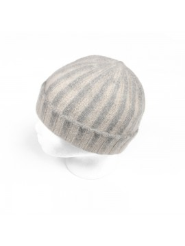 Cashmere Knit Hat in Cream