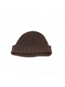 Cashmere Knit Hat in Dark Brown