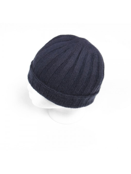 Cashmere Knit Hat in Charcoal