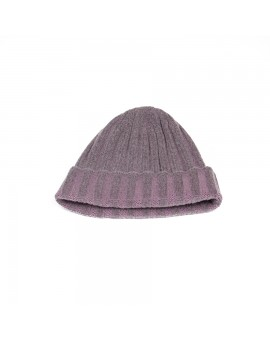 Cashmere Knit Hat in Lavender