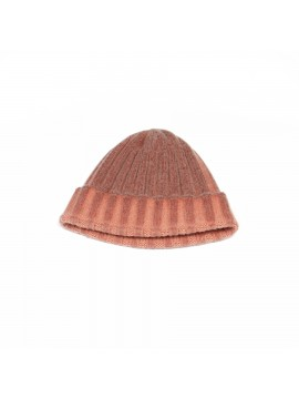 Cashmere Knit Hat in Orange