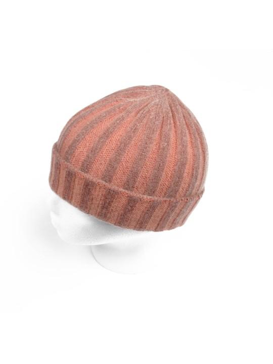 Cashmere Knit Hat in Orange