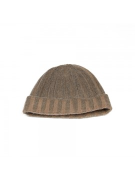 Cashmere Knit Hat in Light Brown