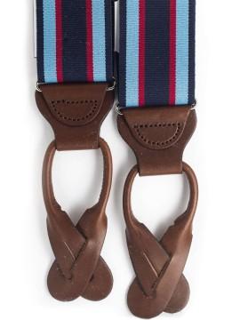 Navy/Lt. Blue/Red Stripes