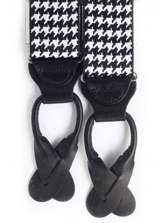 Black/White Hounds Tooth
