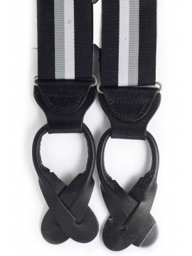 Black/Silver/Grey Stripes