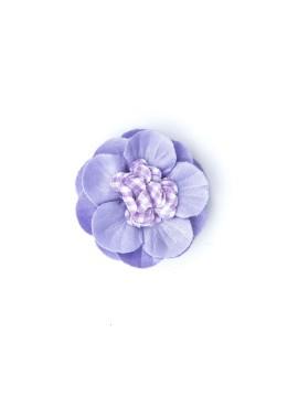 Lavender/White Gingham 3/4 Dahlia Flat/Lavender