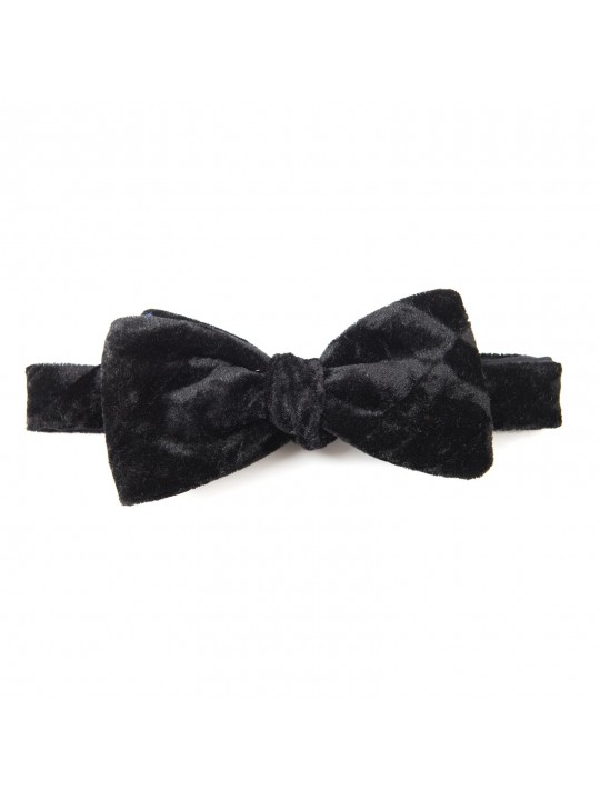 Black Crushed Velvet Formal Bow Tie