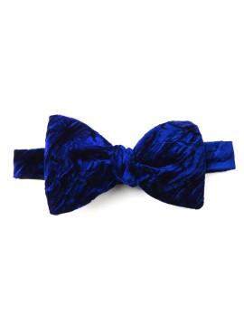 Ink Blue Crushed Velvet Formal Bow Tie