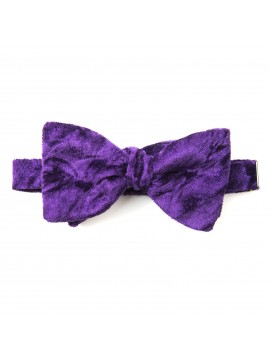 Deep Purple Velvet Formal Bow Tie