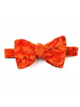 Flame Crushed Velvet Formal Bow Tie
