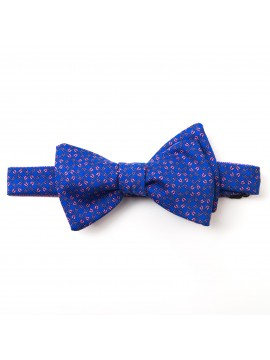 Blue/Pink Pins/Links Reversible Bow Tie