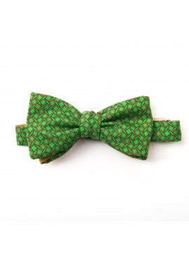 Green/Orange Pins/Links Reversible Bow Tie