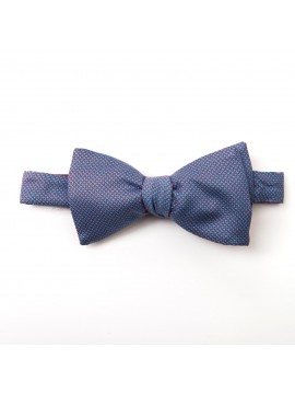 Red/Blue Pins/Links Reversible Bow Tie