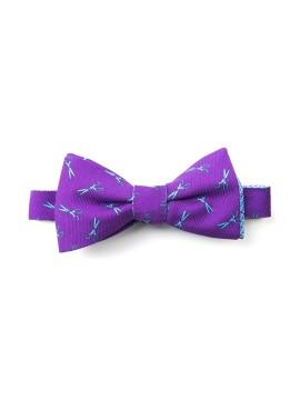Purple/Blue Scissors/Glen Plaid Reversible Bow Tie