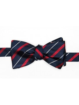 Navy/New Red/White Hat/Glove/Stick Reversible Bow Tie