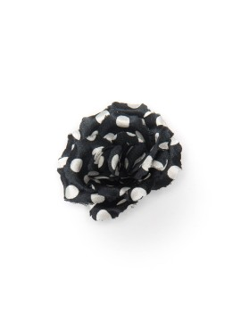 Black/White Dots Rose/Daisy Boutonniere/Lapel Flower