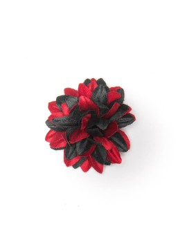 Black/Red Daisy Boutonniere/Lapel Flower