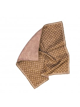 497ffc938c6a9 Brown/Pink Mini Neat/Houndstooth Print Pocket Square
