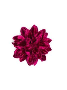 Burgundy/Fuchsia Velvet Boutonniere/Lapel Flower