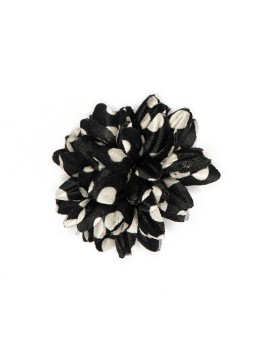 Black/White Dots Boutonniere/Lapel Flower