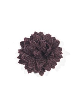 Dark Brown Corduroy Boutonniere/Lapel Flower