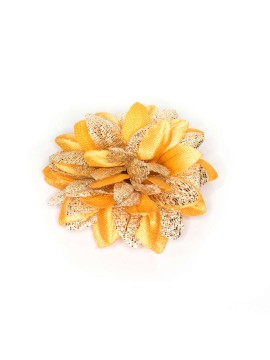 Melon/Metallic Gold Daisy Boutonniere/Lapel Flower