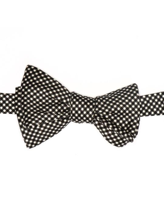 Black/White Check Formal Bow Tie