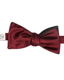 Black/Red Formal Reversible Bow Tie