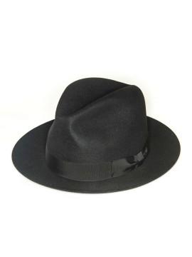 Black Edward Armah Lapin Fur Felt Hat