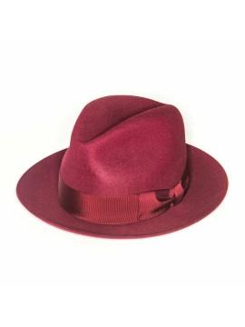 Burgundy Edward Armah Lapin Fur Felt Hat