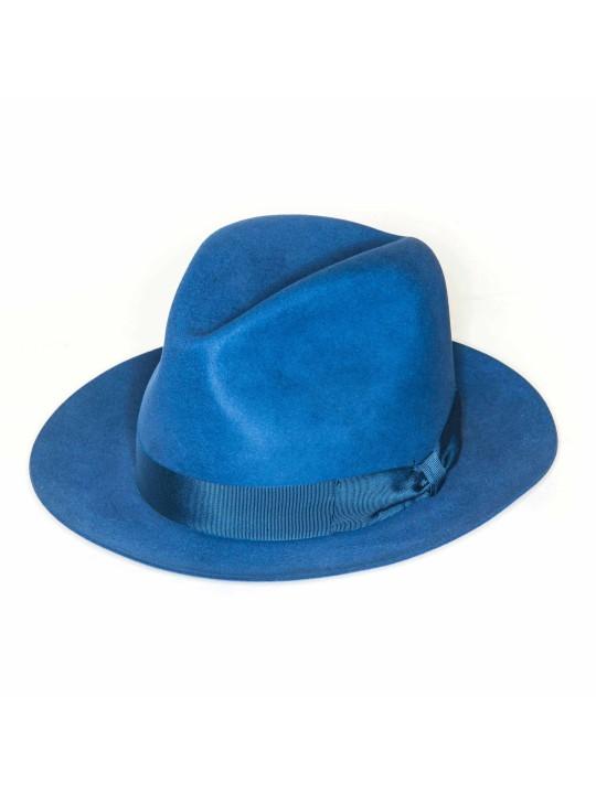 Cobalt Edward Armah Lapin Fur Felt Hat
