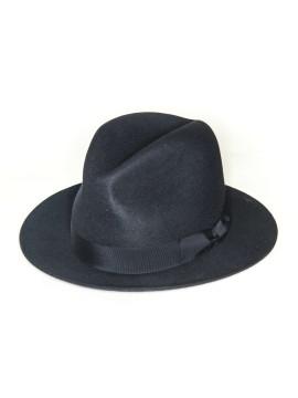 Navy Edward Armah Lapin Fur Felt Hat