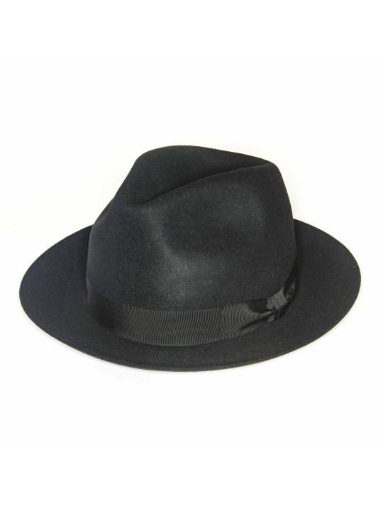 Black Regina Lapin Fur Felt Hat