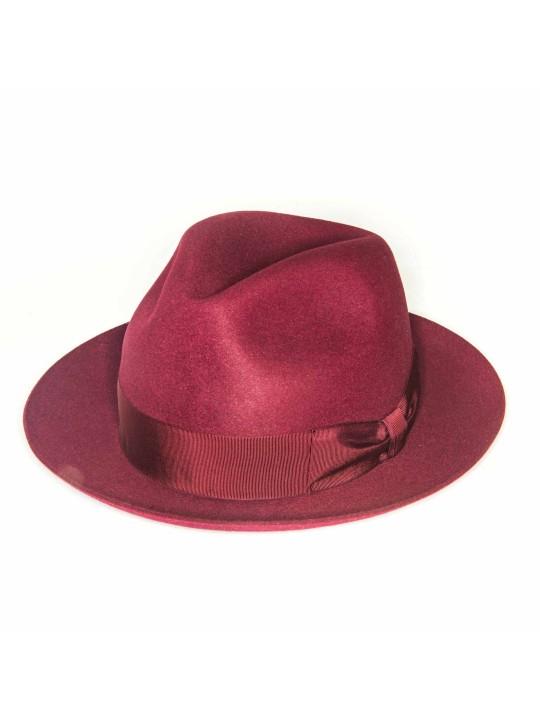 Burgundy Regina Lapin Fur Felt Hat
