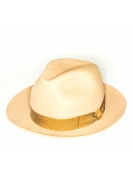 Camel Regina Lapin Fur Felt Hat