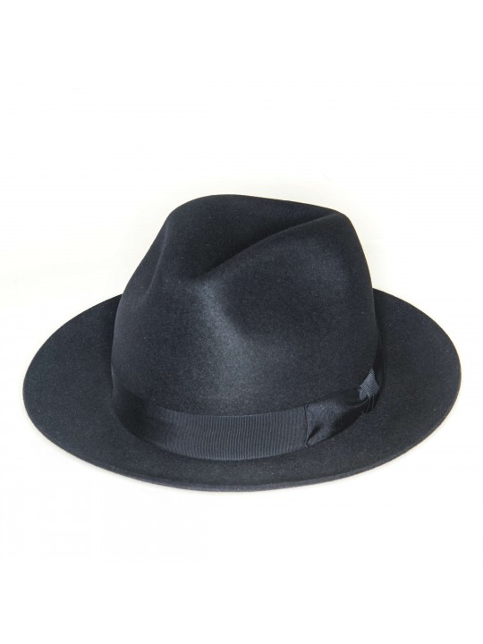 Navy Regina Lapin Fur Felt Hat