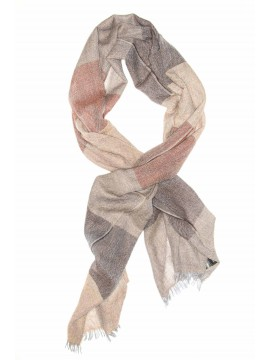 Beige/Brown Virgin Wool Edward Armah Scarf