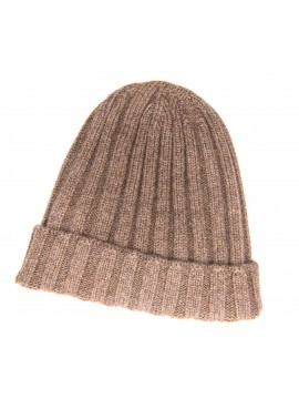 SOLID CAMEL CASHMERE EDWARD ARMAH KNIT SKULL CAP/BEANIE