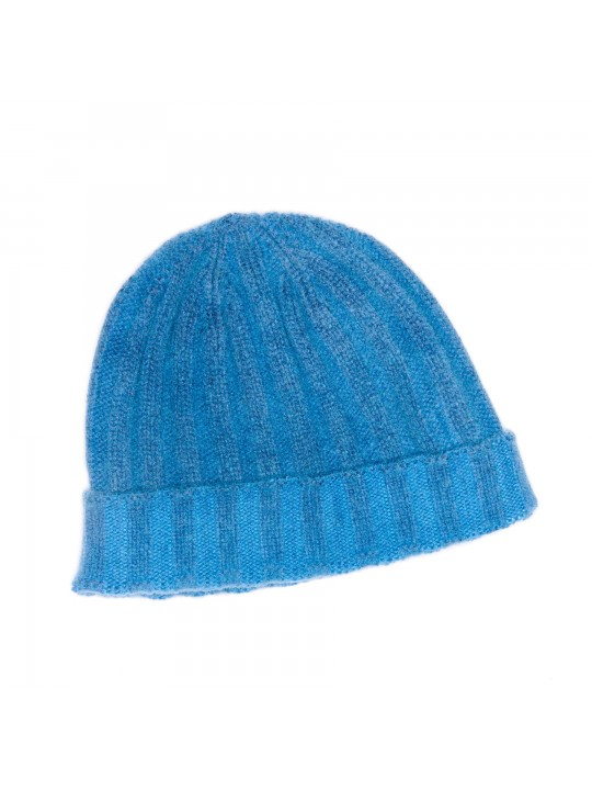 CARIBBEAN BLUE CASHMERE EDWARD ARMAH KNIT SKULL CAP/BEANIE