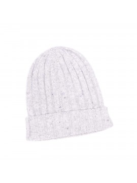LT GRAY VIRGIN WOOL/CASHMERE DONEGAL EDWARD ARMAH KNIT SKULL CAP/BEANIE