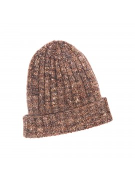CHESTNUT VIRGIN WOOL/CASHMERE DONEGAL EDWARD ARMAH KNIT SKULL CAP/BEANIE