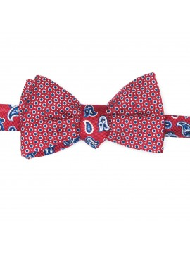 Red Pines/Dots Reversible Bow Tie
