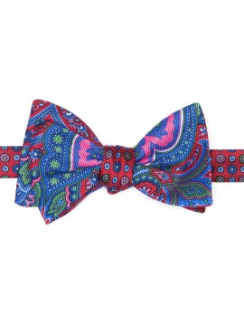 Red Paisley/Neat Reversible Bow Tie